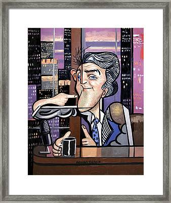 Jay Leno You Been Cubed Framed Print by Anthony Falbo