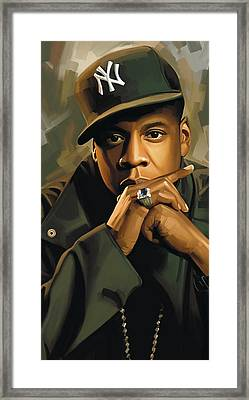 Jay-z Artwork 2 Framed Print by Sheraz A
