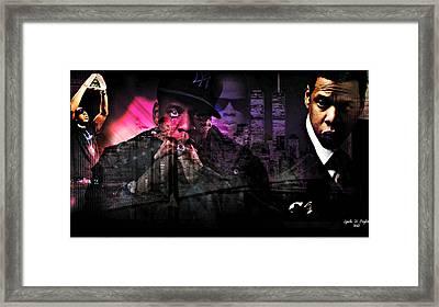 Jay Z Framed Print by Lynda Payton