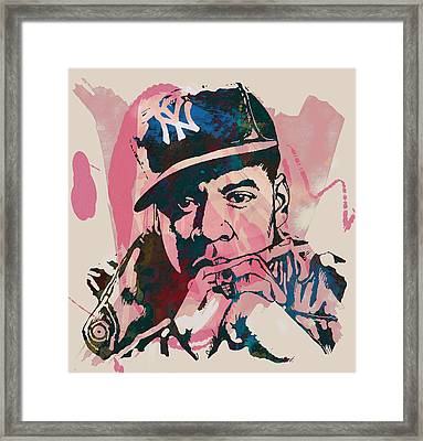 Jay-z Stylised Etching Pop Art Poster Framed Print by Kim Wang