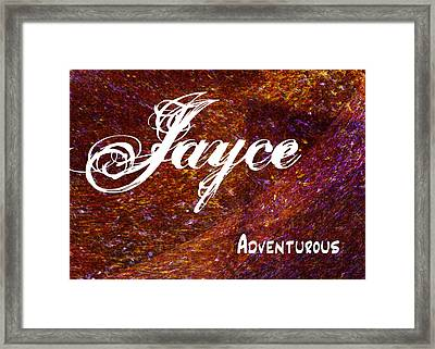 Jayce - Adventurous Framed Print by Christopher Gaston