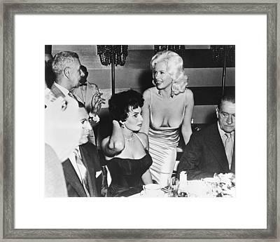 Jayne Mansfield, Sophia Loren Framed Print by Underwood Archives