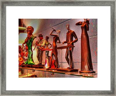 Jazz Band Framed Print by David Bearden