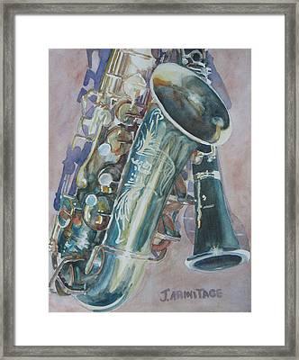 Jazz Buddies Framed Print by Jenny Armitage