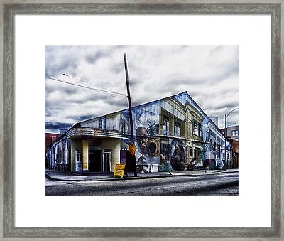 Jazz Cafe - New Orleans Framed Print by Mountain Dreams