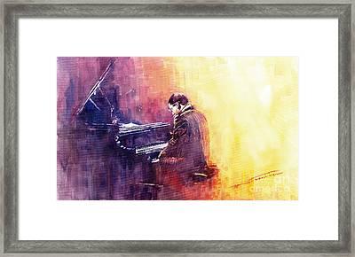 Jazz Herbie Hancock  Framed Print by Yuriy  Shevchuk