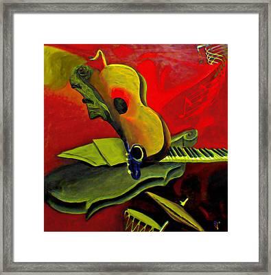 Jazz Infusion Framed Print by  Fli Art