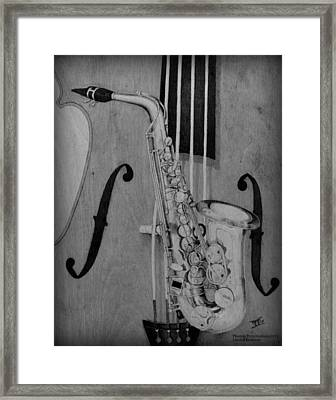 Jazz Is The Color Framed Print by Laurisa Borlovan