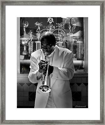 Jazz Man Framed Print by Larry Butterworth