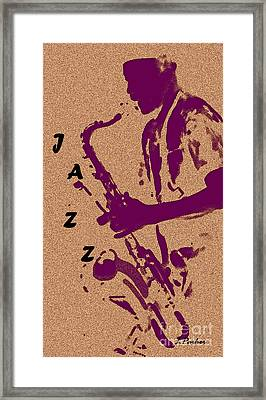 Jazz Man Framed Print by Linda  Parker