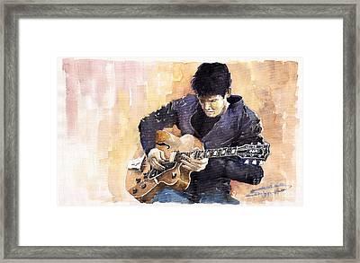 Jazz Rock John Mayer 02 Framed Print by Yuriy  Shevchuk