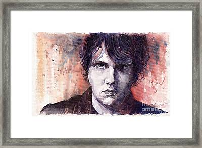 Jazz Rock John Mayer Framed Print by Yuriy  Shevchuk