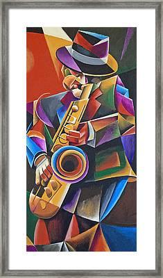Jazz Sax Framed Print by Bob Gregory