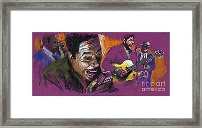 Jazz Songer Framed Print by Yuriy  Shevchuk