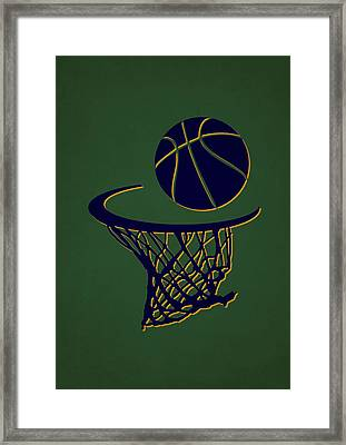 Jazz Team Hoop2 Framed Print by Joe Hamilton