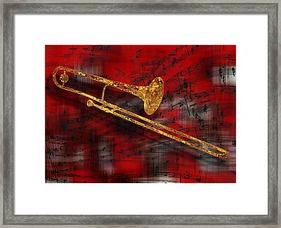 Jazz Trombone Framed Print by Jack Zulli