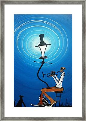 Jazz With My Dog Framed Print by Guilbeaux Gallery
