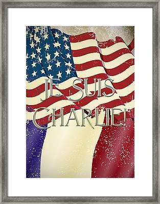 Je Suis Charlie Framed Print by Paulette B Wright
