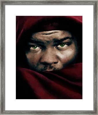 Jealous Othello Framed Print by Georgiana Romanovna