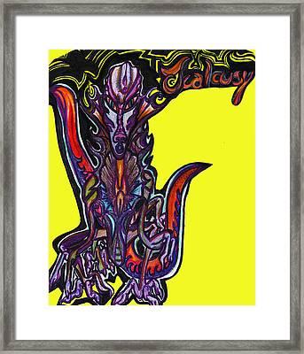 Jealousy Framed Print by Tiffany Selig