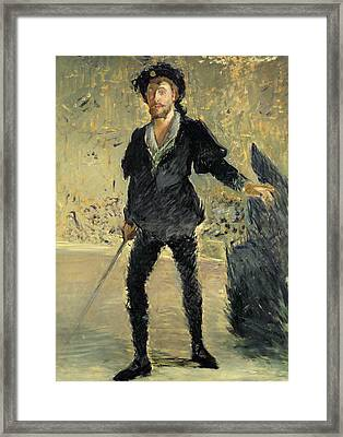 Jean Baptiste Faure In The Opera Hamlet By Ambroise Thomas Framed Print by Edouard Manet