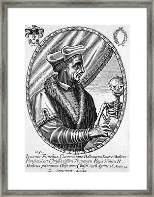 Jean Fernel Framed Print by National Library Of Medicine