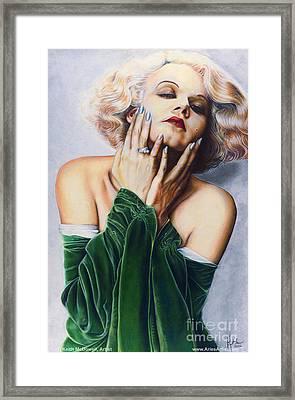Jean Harlow  @ Ariesartist.com Framed Print by AriesArtist Com