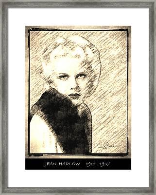 Jean Harlow Framed Print by George Rossidis