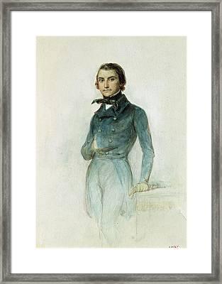 Jean Joseph Louis Blanc 1811-82 1835 Pastel On Paper Framed Print by Denis-Auguste-Marie Raffet