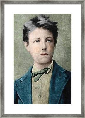 Jean Nicolas Arthur Rimbaud Portrait Framed Print by Celestial Images