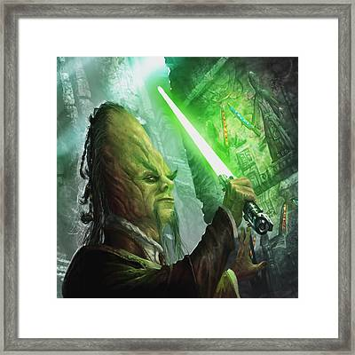Jedi Archaeologist Framed Print by Ryan Barger