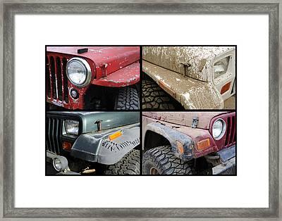 Jeep 4x4 Framed Print by Luke Moore
