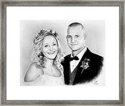 Jeff And Anna Framed Print by Andrew Read
