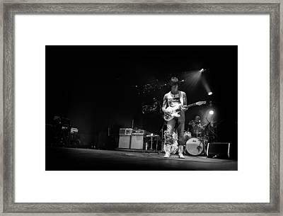 Jeff Beck On Guitar 5 Framed Print by The  Vault - Jennifer Rondinelli Reilly