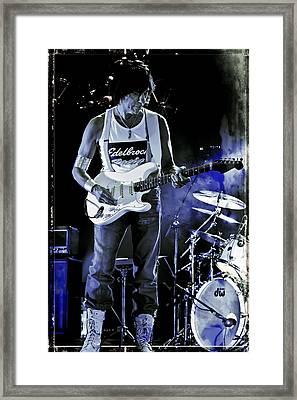 Jeff Beck On Guitar 8 Framed Print by The  Vault - Jennifer Rondinelli Reilly