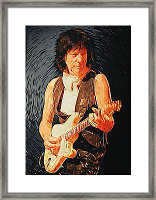 Jeff Beck Framed Print by Taylan Soyturk