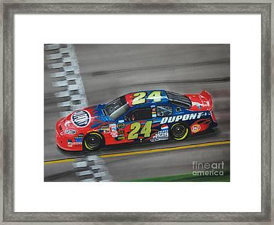 Jeff Gordon Dupont Chevrolet Framed Print by Paul Kuras