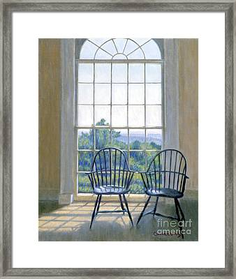 Jefferson And A Friend At Monticello Framed Print by Candace Lovely