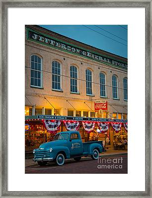 Jefferson General Store Framed Print by Inge Johnsson