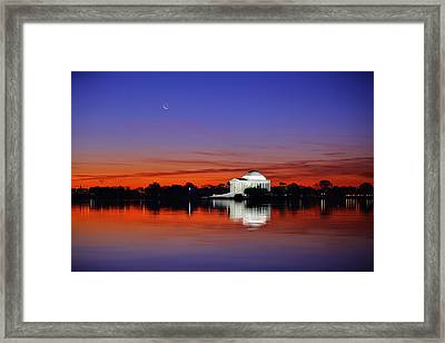 Jefferson Memorial At Dawn Framed Print by Metro DC Photography
