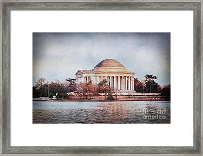 Jefferson Memorial In Dc Framed Print by Emily Kay