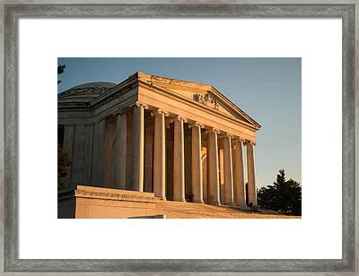Jefferson Memorial Sunset Framed Print by Steve Gadomski