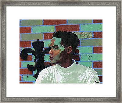 Jeffrey Burton Fisher 1989 Framed Print by Feile Case