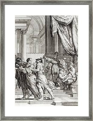 Jehoiada Framed Print by Jean-Jacques Flipart
