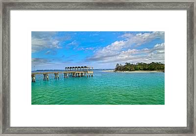 Jekyll Island Just Like Paradise Framed Print by Betsy C Knapp