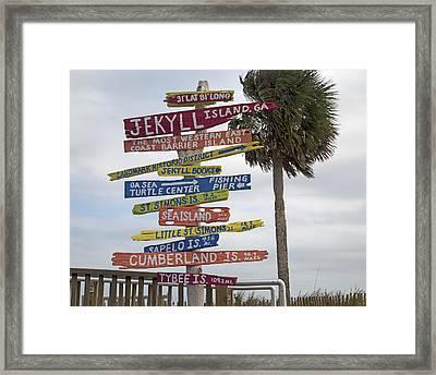 Jekyll Island Where To Go Framed Print by Betsy C Knapp