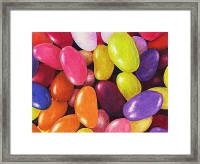 Jelly Beans Framed Print by Anastasiya Malakhova