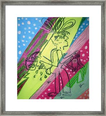 Jelly Beans Framed Print by Lois Picasso