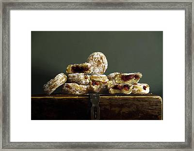Jelly Donuts Framed Print by Larry Preston