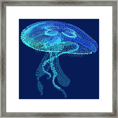 Jellyfish Bedazzled Framed Print by R  Allen Swezey